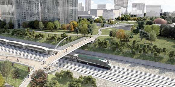 Rendering of Fort York Pedestrian/Cycle Bridge, courtesy of Build Toronto.
