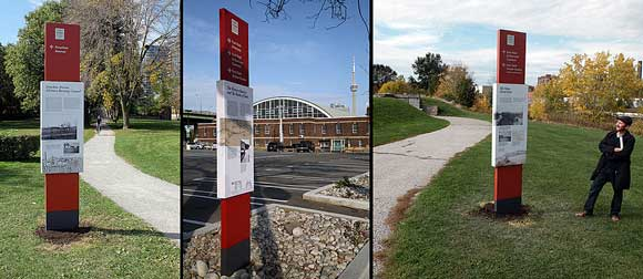 New wayfinding/interpretation installed across Fort York National Historic Site.