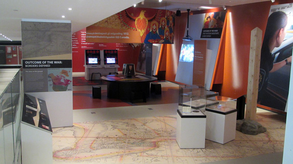 Exhibits provide background to the War of 1812. Photo by A. Stewart